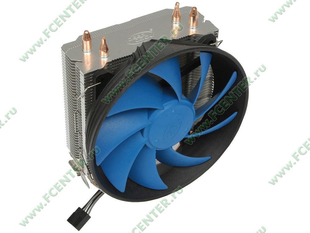"""Кулер для процессора Deepcool """"GAMMAXX 200T DP-MCH2-GMX200T"""". Вид спереди."""
