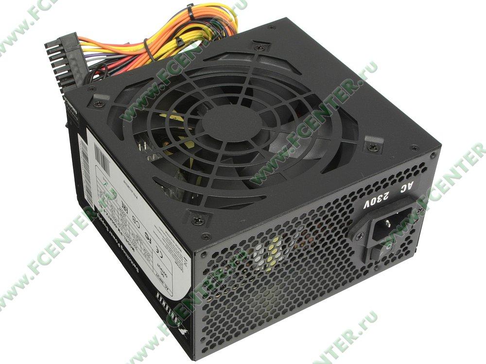 "Блок питания 600Вт Powerman ""PM-600ATX-F-BL"" ATX12V V2.2. Вид спереди."