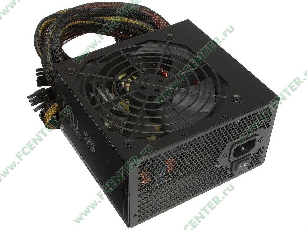 "Блок питания 700Вт Cooler Master ""MasterWatt Lite 700"" ATX12V V2.31. Вид спереди."