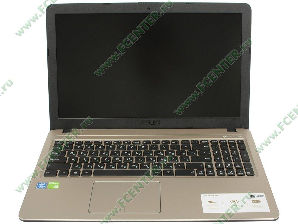 """Ноутбук ASUS """"X540MB-CQ079"""". Вид cпереди 1."""