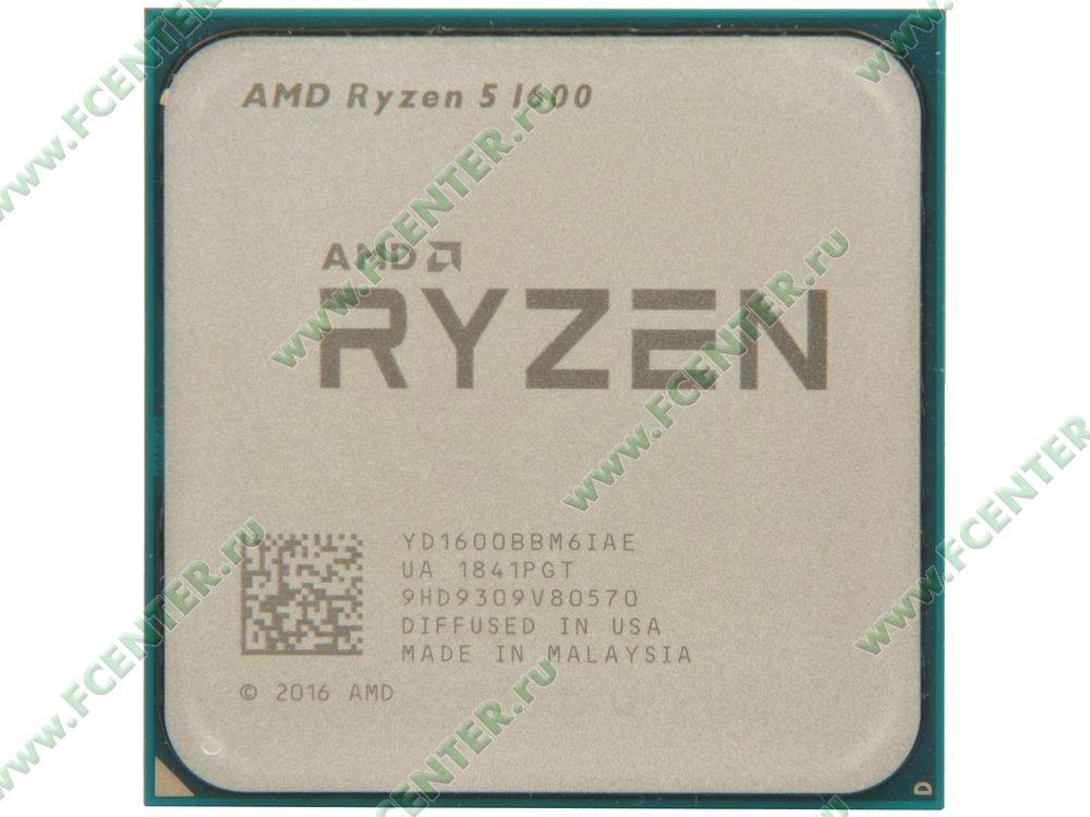 """Процессор AMD """"Ryzen 5 1600"""" SocketAM4. Вид сверху."""