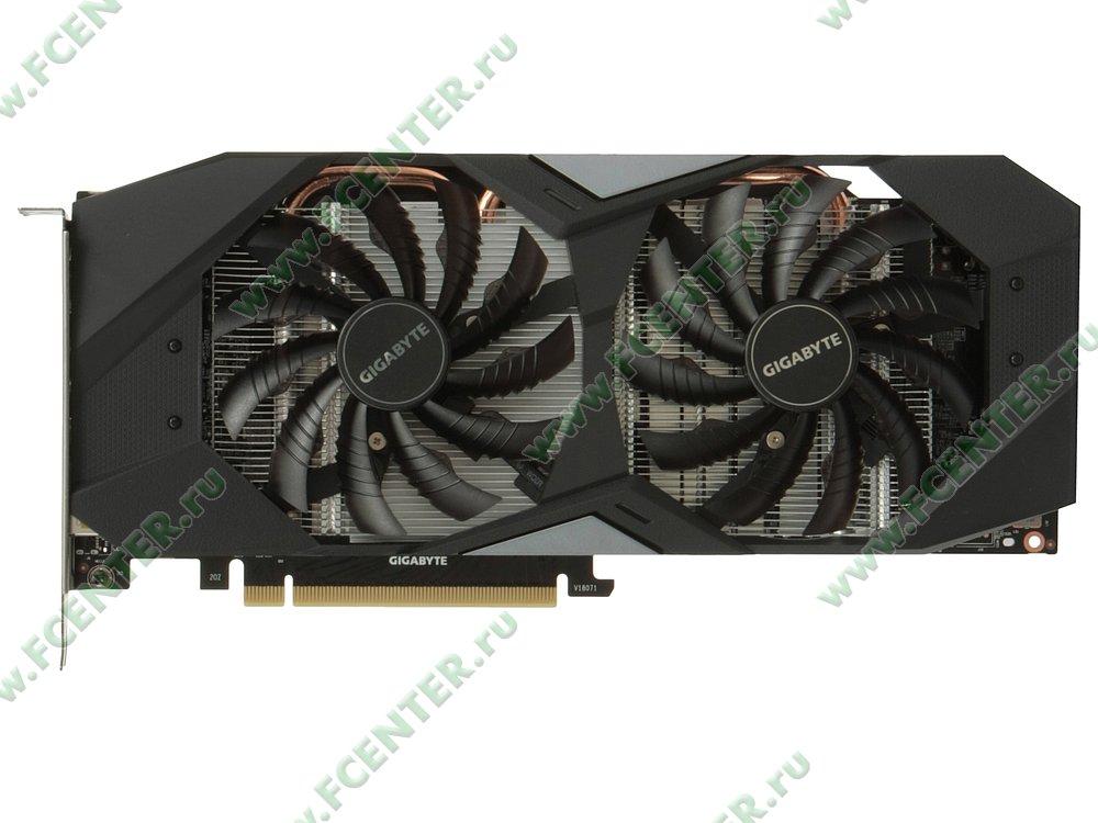 """Видеокарта Видеокарта GIGABYTE """"GeForce RTX 2060 WINDFORCE OC 6G 6ГБ"""". Вид сверху."""