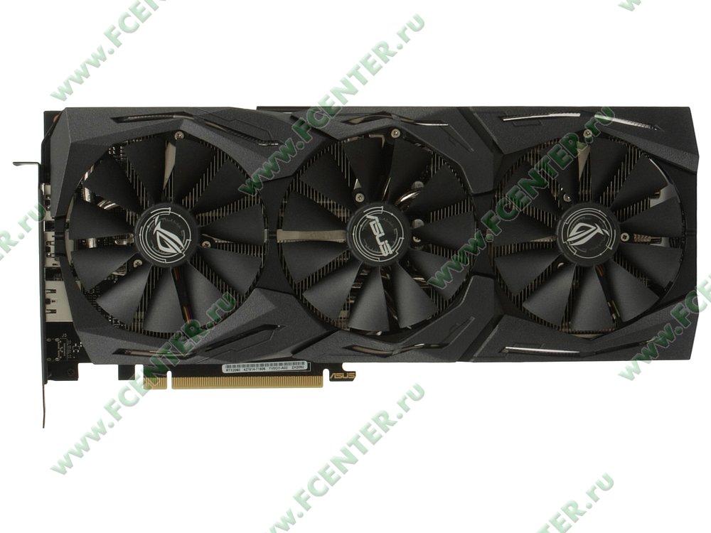 """Видеокарта ASUS """"GeForce RTX 2060 6ГБ"""" ROG-STRIX-RTX2060-A6G-GAMING. Вид сверху."""