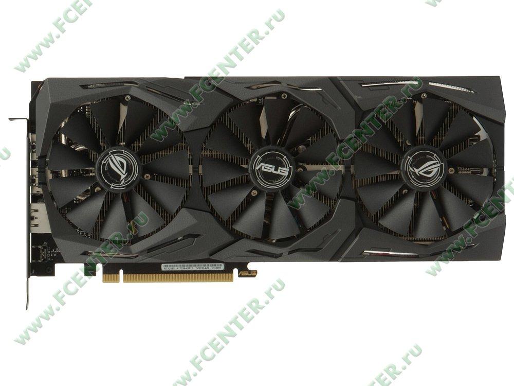 """Видеокарта ASUS """"GeForce RTX 2060 6ГБ"""" ROG-STRIX-RTX2060-O6G-GAMING. Вид сверху."""