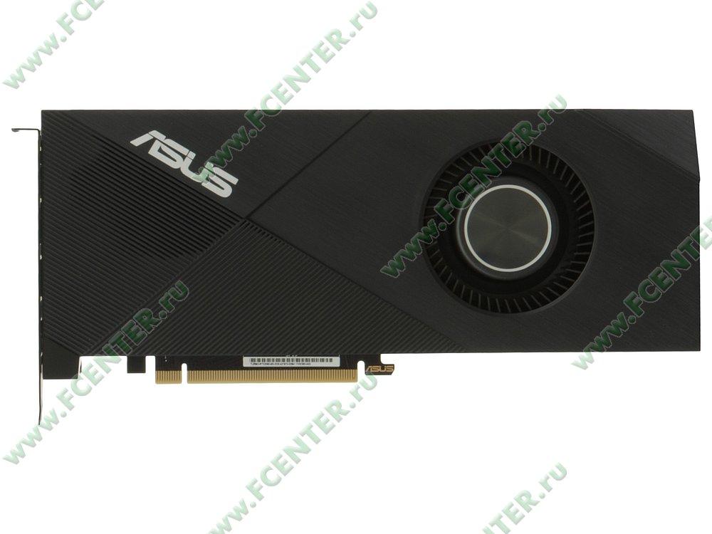 "Видеокарта ASUS ""GeForce RTX 2060 6ГБ"" TURBO-RTX2060-6G. Вид сверху."