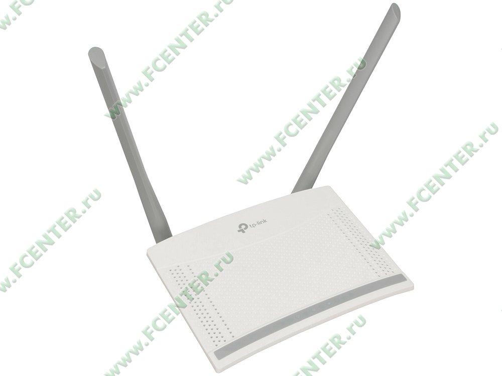 """Беспроводной маршрутизатор Беспроводной маршрутизатор TP-Link """"TL-WR820N"""" WiFi 300Мбит/сек. + 2 порта LAN 100Мбит/сек. + 1 порт WAN 100Мбит/сек. . Вид спереди."""