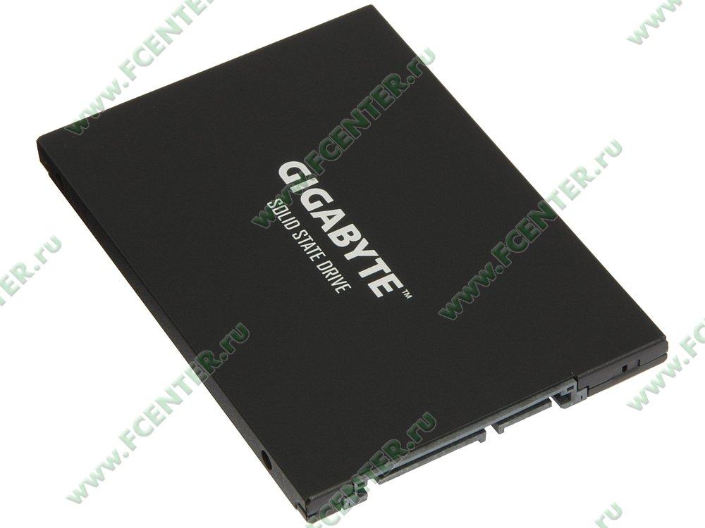 "SSD диск 480ГБ 2.5"" GIGABYTE ""GP-GSTFS31480GNTD"" (SATA III). Вид спереди."