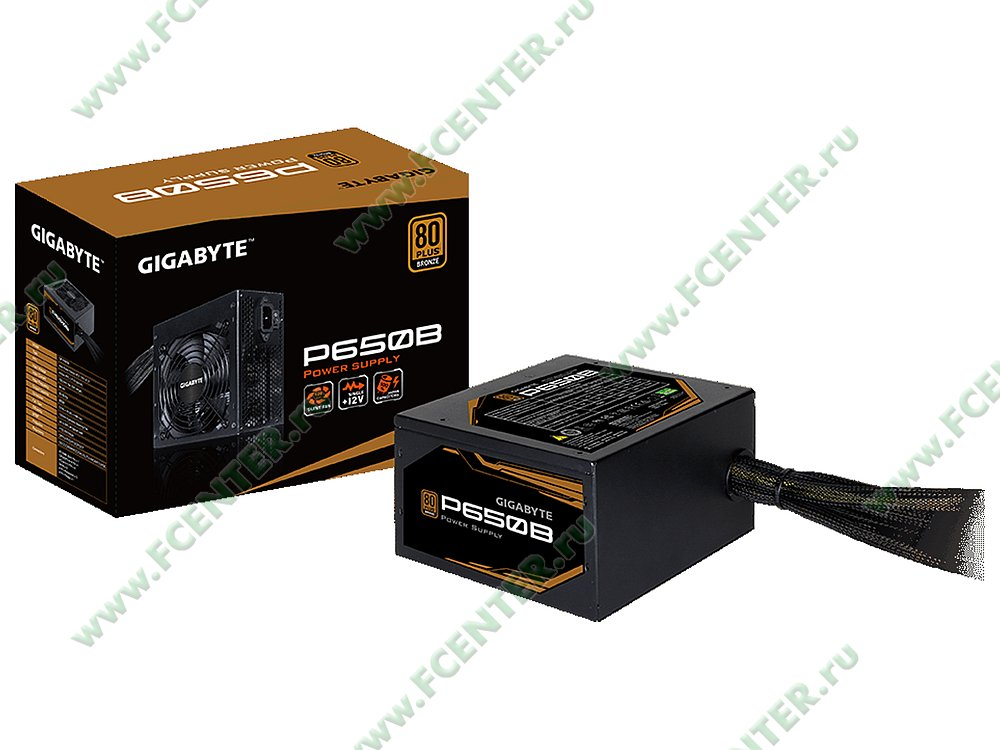 "Блок питания 650Вт GIGABYTE ""P650B"" ATX12V V2.31. Фото производителя."