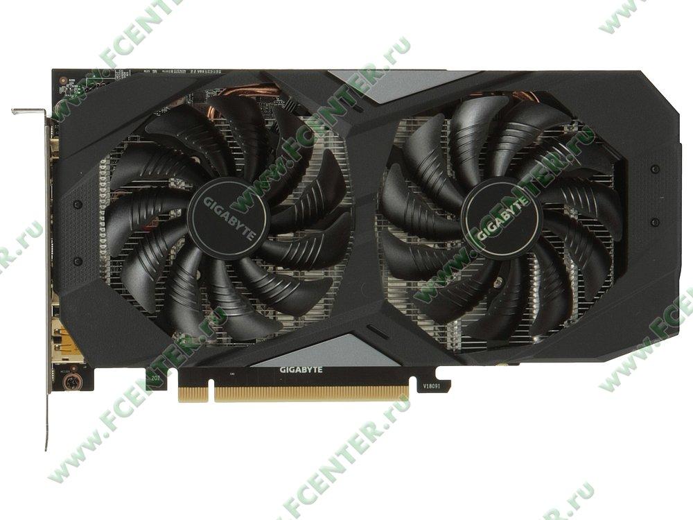 "Видеокарта GIGABYTE ""GeForce RTX 2060 OC 6G 6ГБ"". Вид сверху."