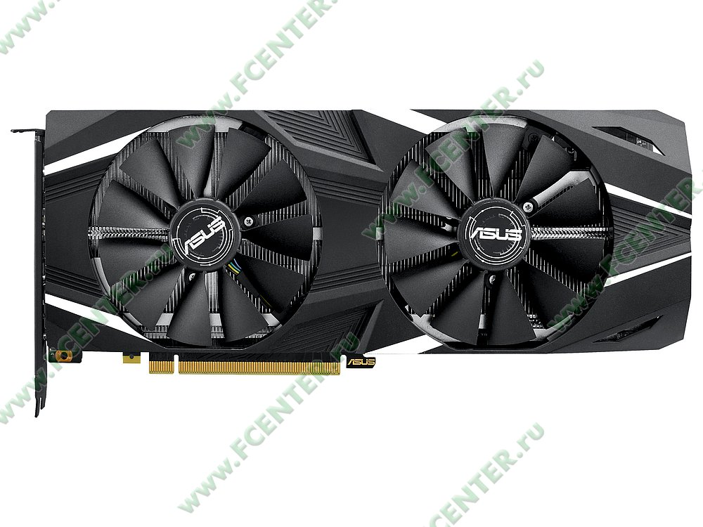 """Видеокарта ASUS """"GeForce RTX 2080 8ГБ"""" DUAL-RTX2080-O8G. Фото производителя 1."""