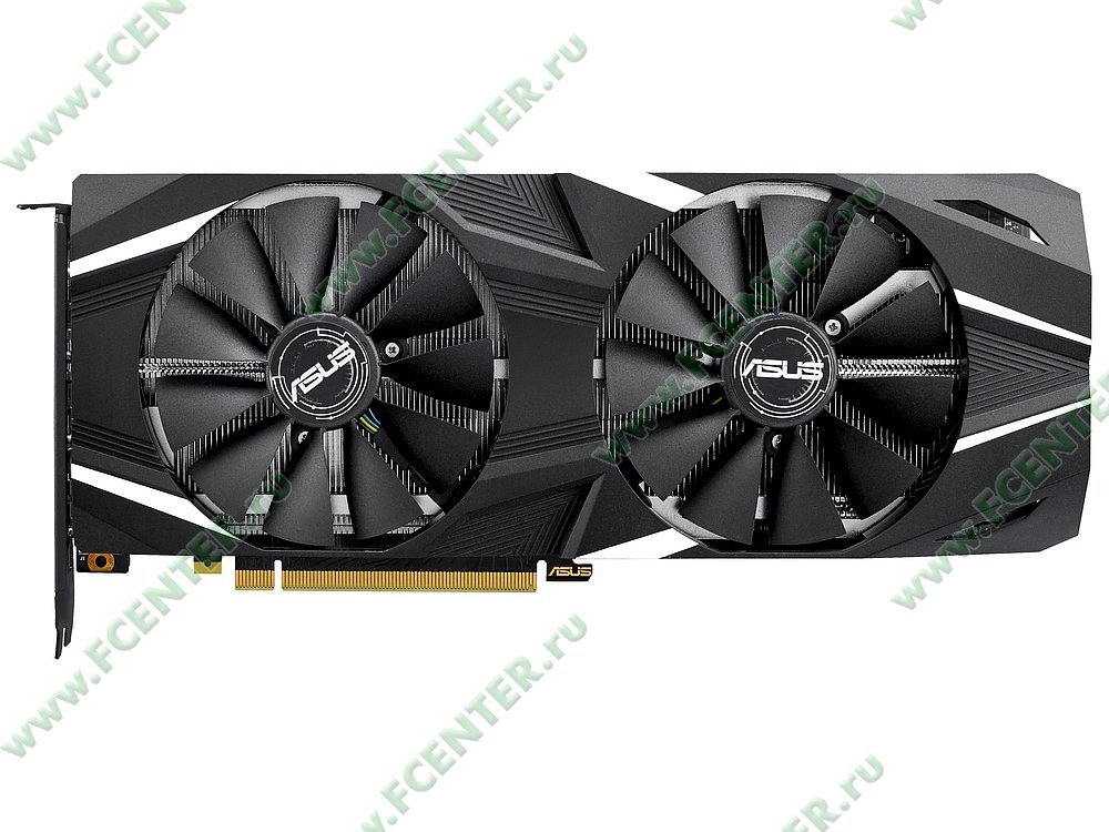 """Видеокарта ASUS """"GeForce RTX 2080 8ГБ"""" DUAL-RTX2080-8G. Фото производителя 1."""