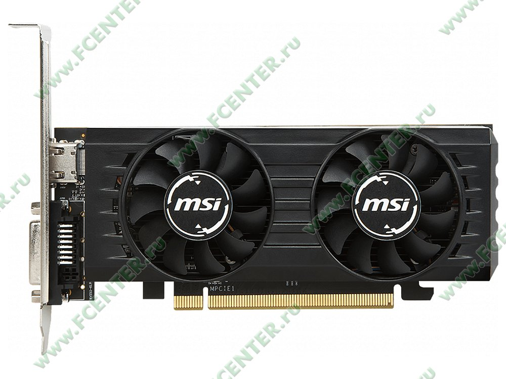 """Видеокарта MSI """"Radeon RX 550 4GT LP OC 4ГБ"""". Фото производителя 1."""