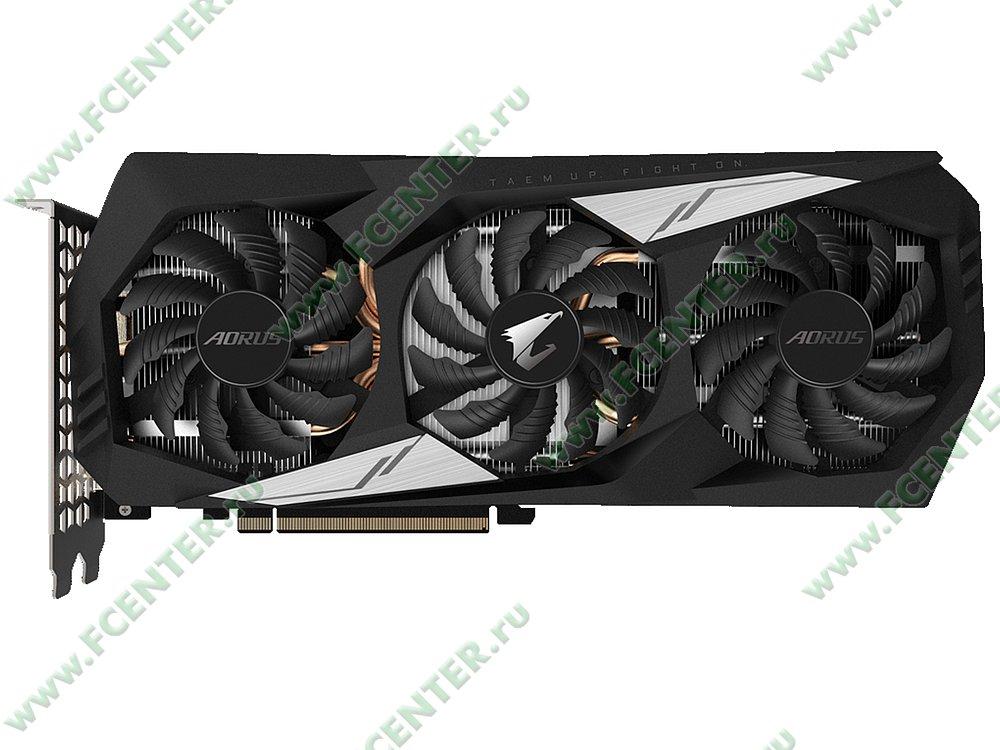 """Видеокарта GIGABYTE """"GeForce GTX 1660 Ti AORUS 6G 6ГБ"""" GV-N166TAORUS-6GD. Фото производителя 1."""