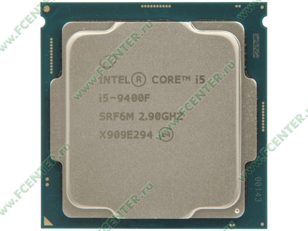 """Процессор Intel """"Core i5-9400F"""" Socket1151. Вид сверху."""