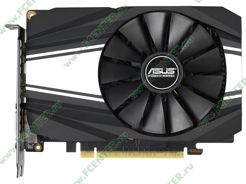"""Видеокарта ASUS """"GeForce GTX 1660 Ti 6ГБ"""" PH-GTX1660TI-6G. Фото производителя 1."""