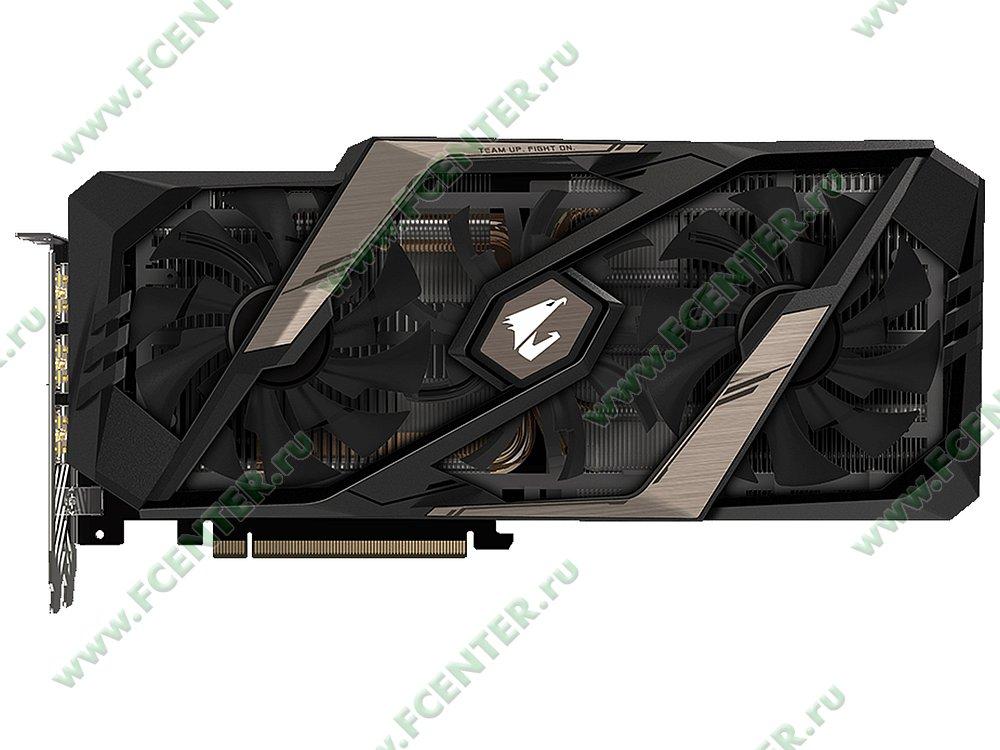"""Видеокарта GIGABYTE """"GeForce RTX 2080 AORUS 8G 8ГБ"""". Фото производителя 1."""