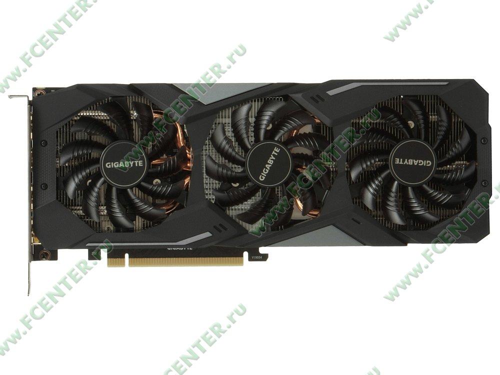 """Видеокарта GIGABYTE """"GeForce GTX 1660 GAMING OC 6G 6ГБ"""". Вид сверху."""