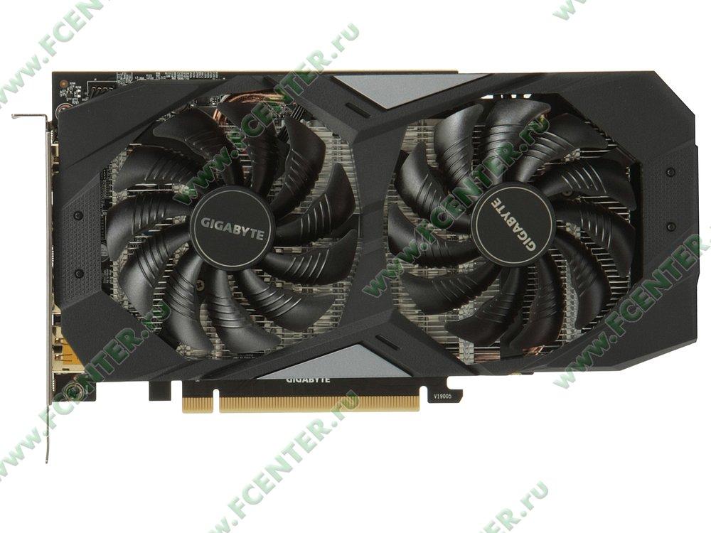 "Видеокарта Видеокарта GIGABYTE ""GeForce GTX 1660 OC 6G 6ГБ"". Вид сверху."