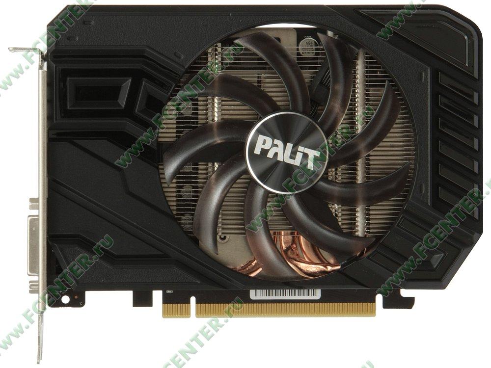 "Видеокарта Palit ""GeForce GTX 1660 StormX OC 6ГБ"". Вид сверху."