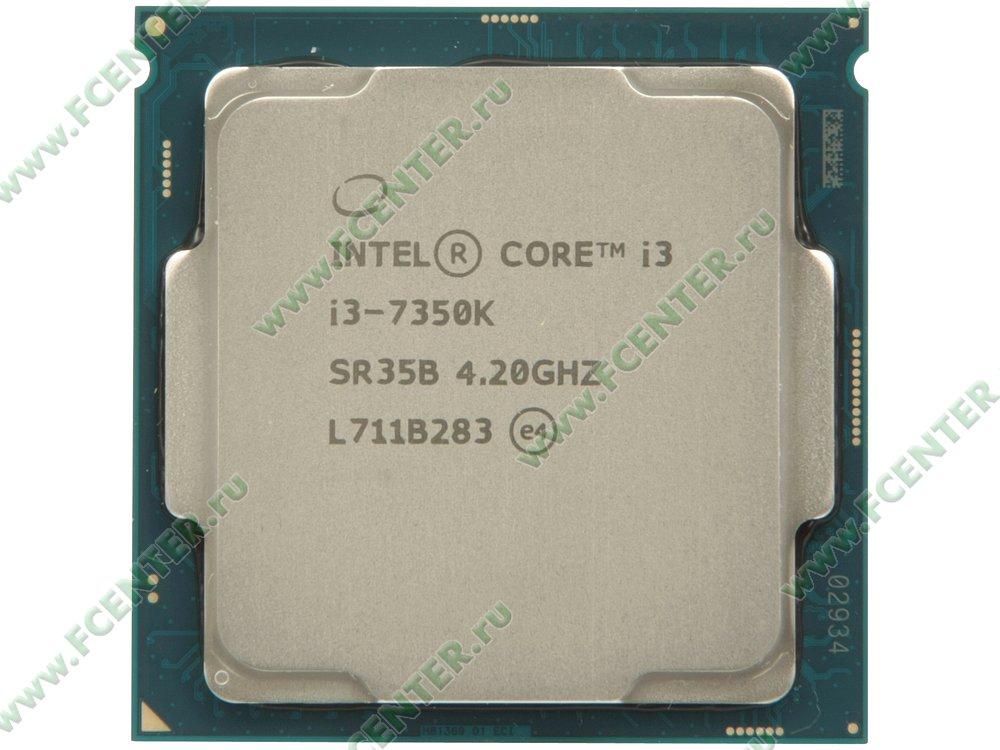 "Процессор Intel ""Core i3-7350K"" Socket1151. Вид сверху."