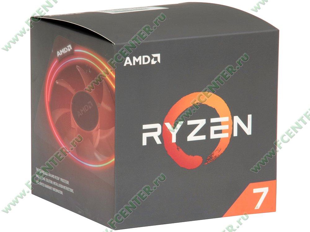 """Процессор AMD """"Ryzen 7 2700X"""" SocketAM4. Коробка."""