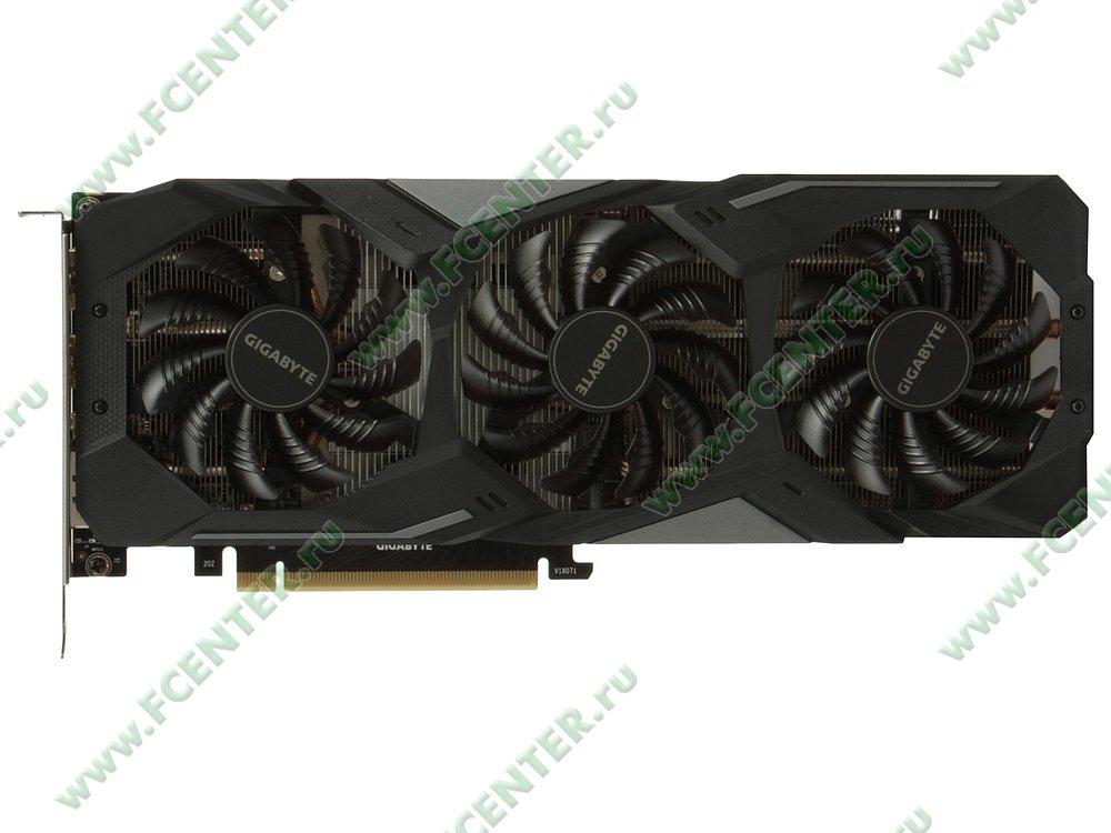 """Видеокарта GIGABYTE """"GeForce RTX 2060 GAMING OC PRO 6G 6ГБ"""". Вид сверху."""