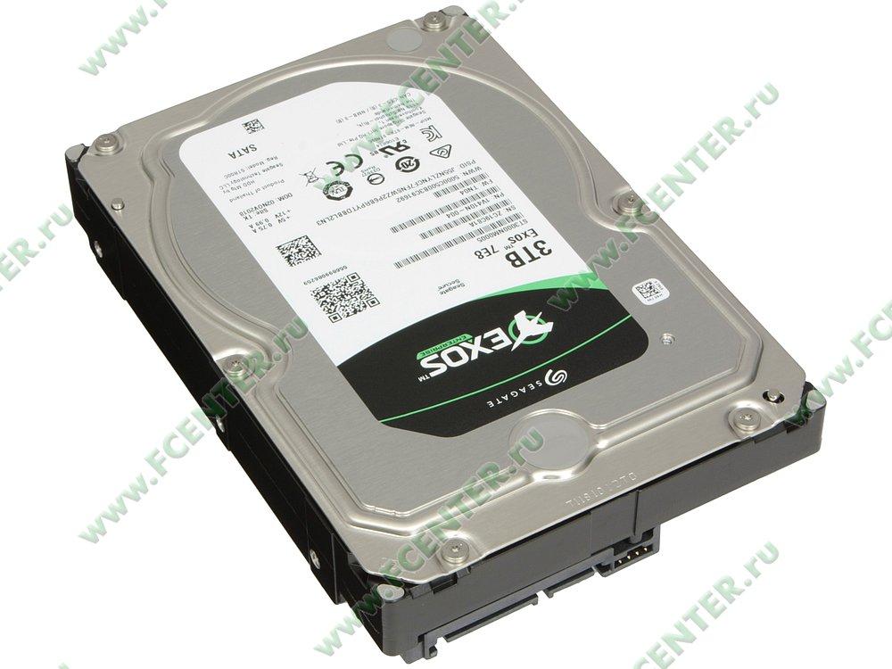 """Жесткий диск 3ТБ Seagate """"ST3000NM0005"""" (SATA III). Вид спереди."""