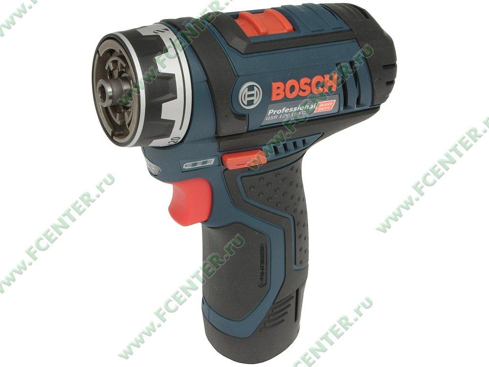 "Дрель-шуруповёрт Bosch ""GSR 12V-15 FC Professional"". Вид спереди."