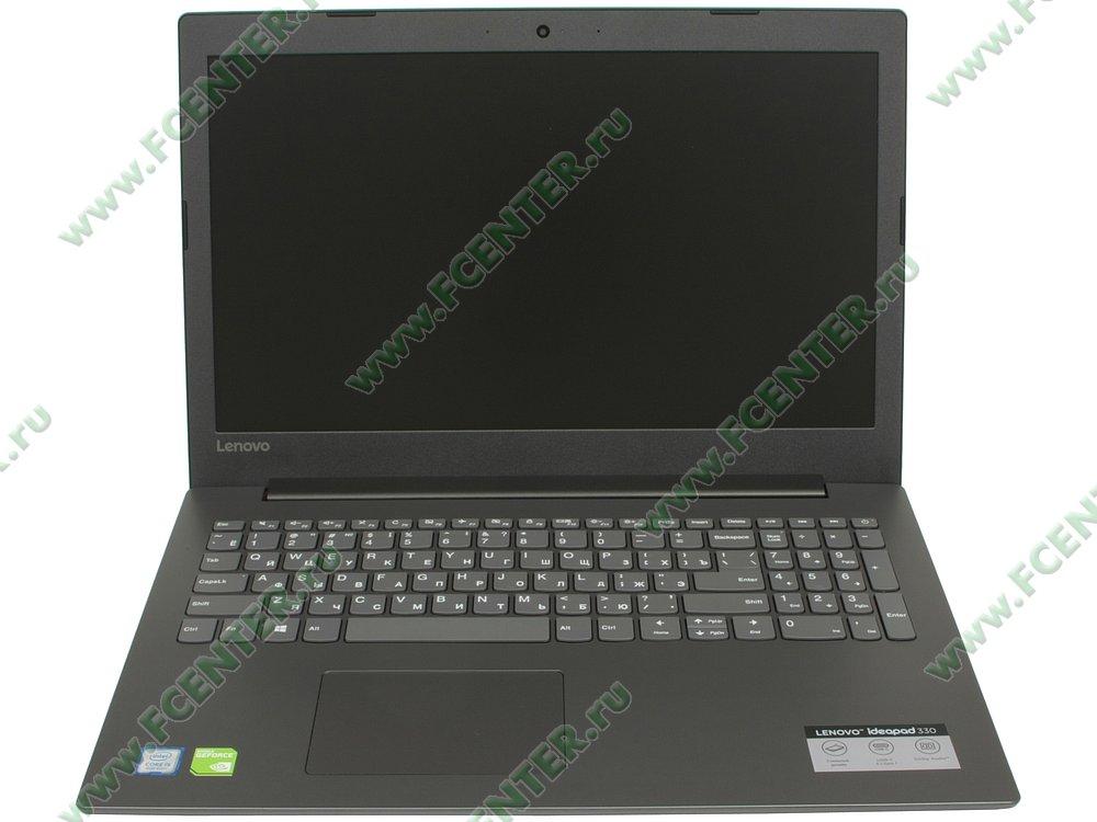 """Ноутбук Lenovo """"IdeaPad 330-15IKBR"""". Вид cпереди 1."""