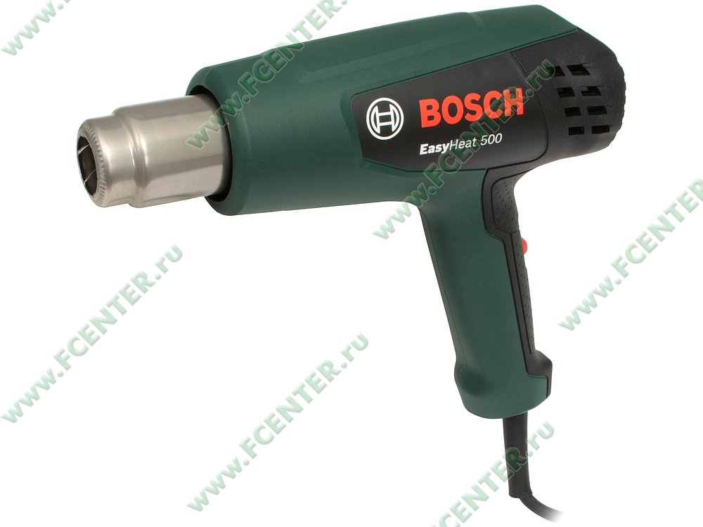 """Технический фен Технический фен Bosch """"EasyHeat 500"""". Вид спереди."""