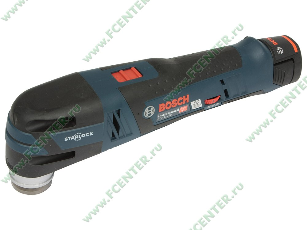 """Многофункциональный инструмент Bosch """"GOP 12V-28 Professional"""". Вид спереди."""