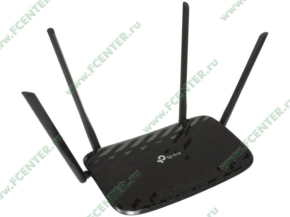 """Беспроводной маршрутизатор Беспроводной маршрутизатор TP-Link """"Archer A6"""" WiFi 867Мбит/сек. + 4 порта LAN 1Гбит/сек. + 1 порт WAN 1Гбит/сек. . Вид спереди."""