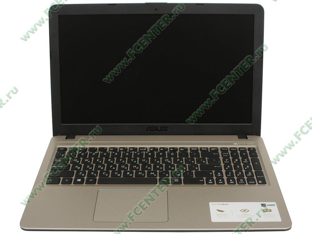 """Ноутбук ASUS """"X540MA-GQ064"""". Вид cпереди 1."""