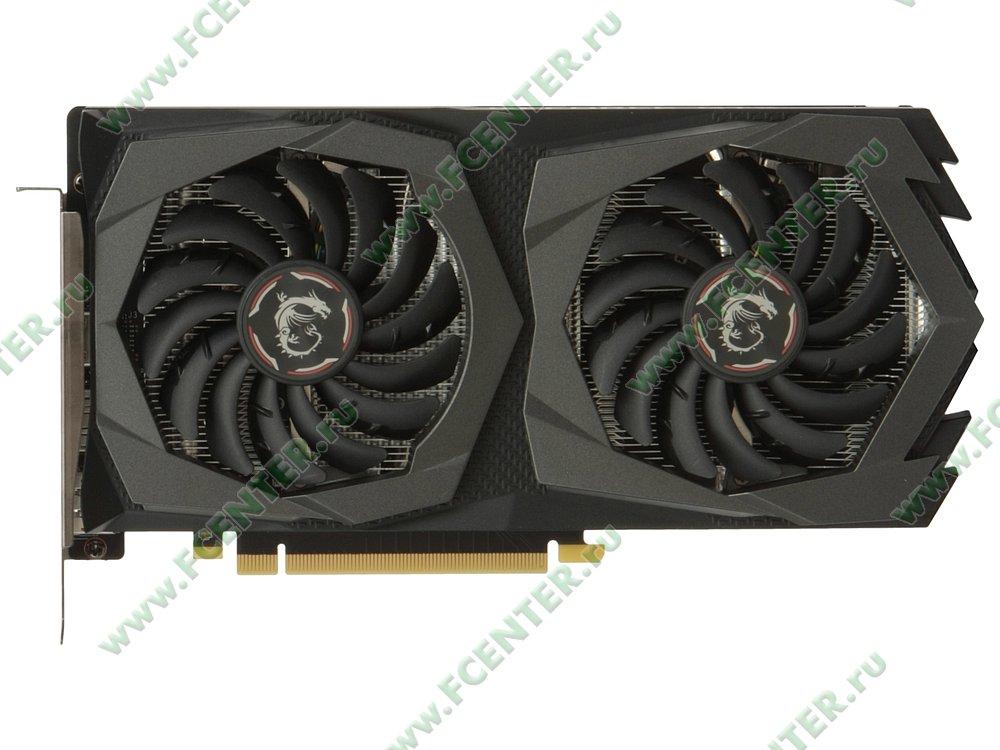 "Видеокарта MSI ""GeForce GTX 1650 GAMING X 4G 4ГБ"". Вид сверху."