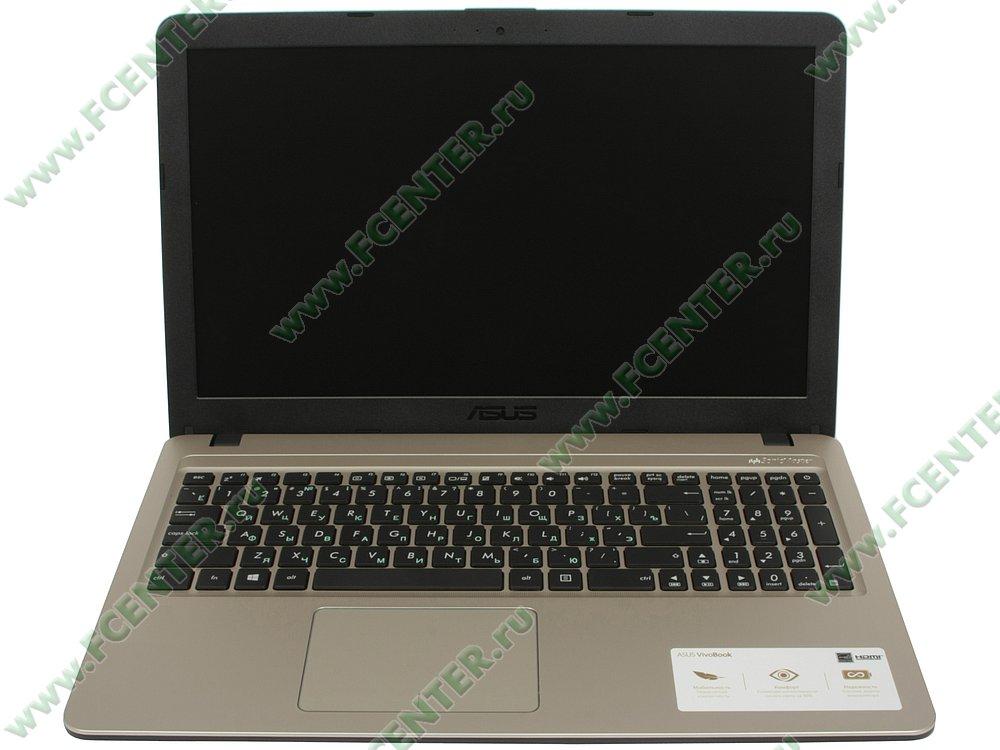 """Ноутбук ASUS """"X540MA-GQ064T"""". Вид cпереди 1."""