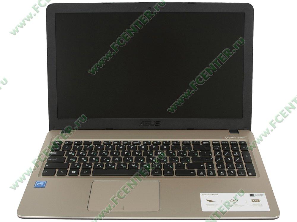 """Ноутбук ASUS """"X540NA-GQ005"""". Вид cпереди 1."""
