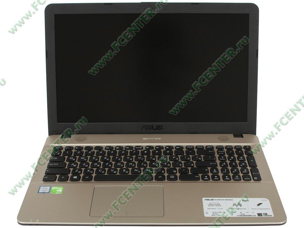 """Ноутбук ASUS """"X541UV-DM1607T"""". Вид cпереди 1."""