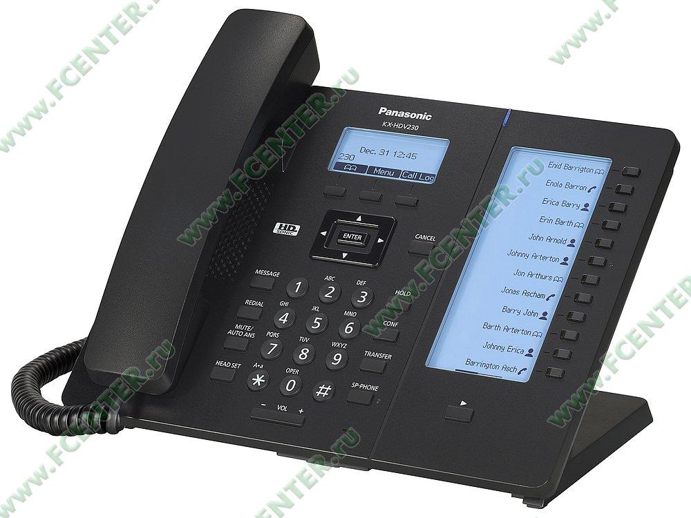 "VoIP-телефон VoIP-телефон Panasonic ""KX-HDV230RUB"". Фото производителя."
