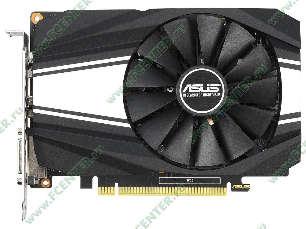 "Видеокарта ASUS ""GeForce GTX 1660 6ГБ"" PH-GTX1660-6G. Фото производителя 1."
