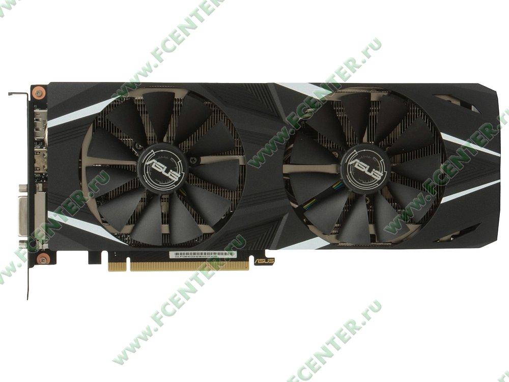 "Видеокарта ASUS ""GeForce RTX 2060 6ГБ"" DUAL-RTX2060-6G. Вид сверху."
