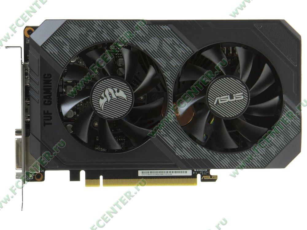 """Видеокарта ASUS """"GeForce GTX 1660 6ГБ"""" TUF-GTX1660-6G-GAMING. Вид сверху."""