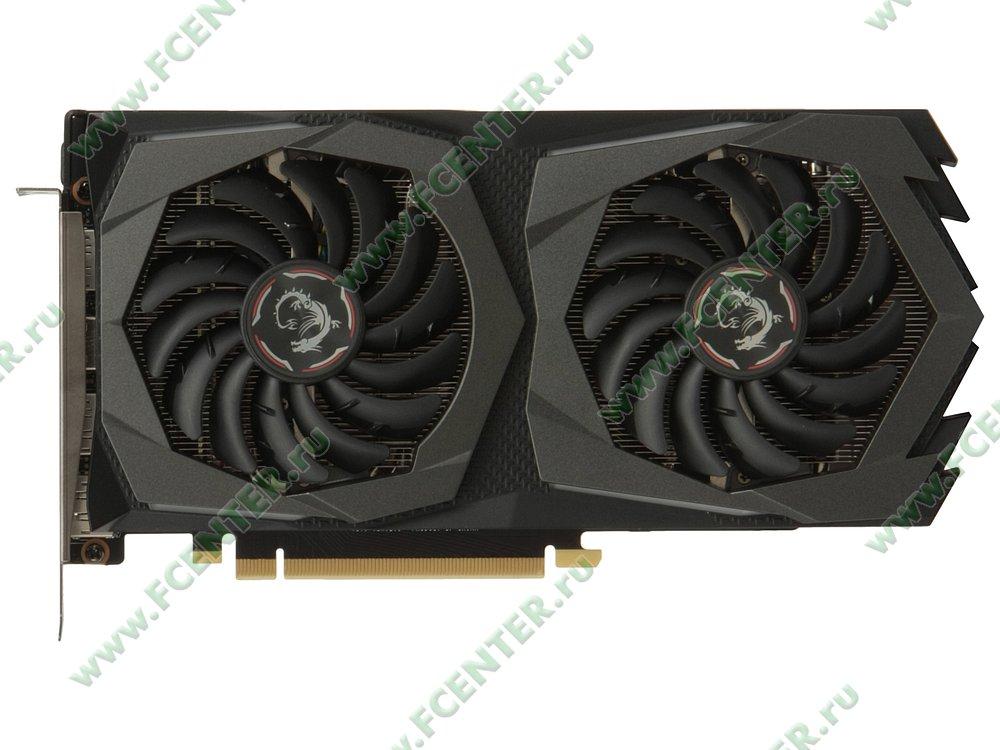 "Видеокарта MSI ""GeForce GTX 1660 GAMING 6G 6ГБ"". Вид сверху."