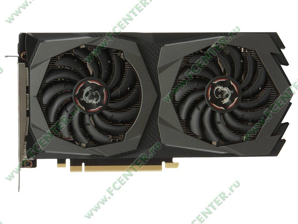 "Видеокарта MSI ""GeForce GTX 1660 Ti GAMING 6G 6ГБ"". Вид сверху."