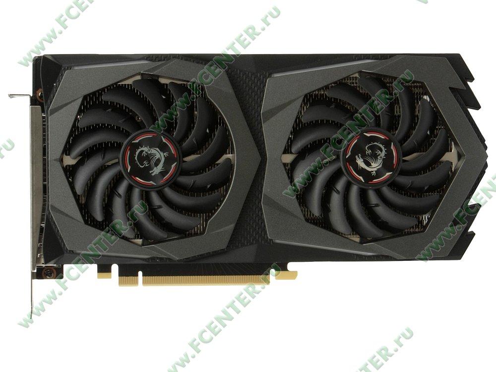 """Видеокарта MSI """"GeForce RTX 2060 GAMING 6G 6ГБ"""". Вид сверху."""