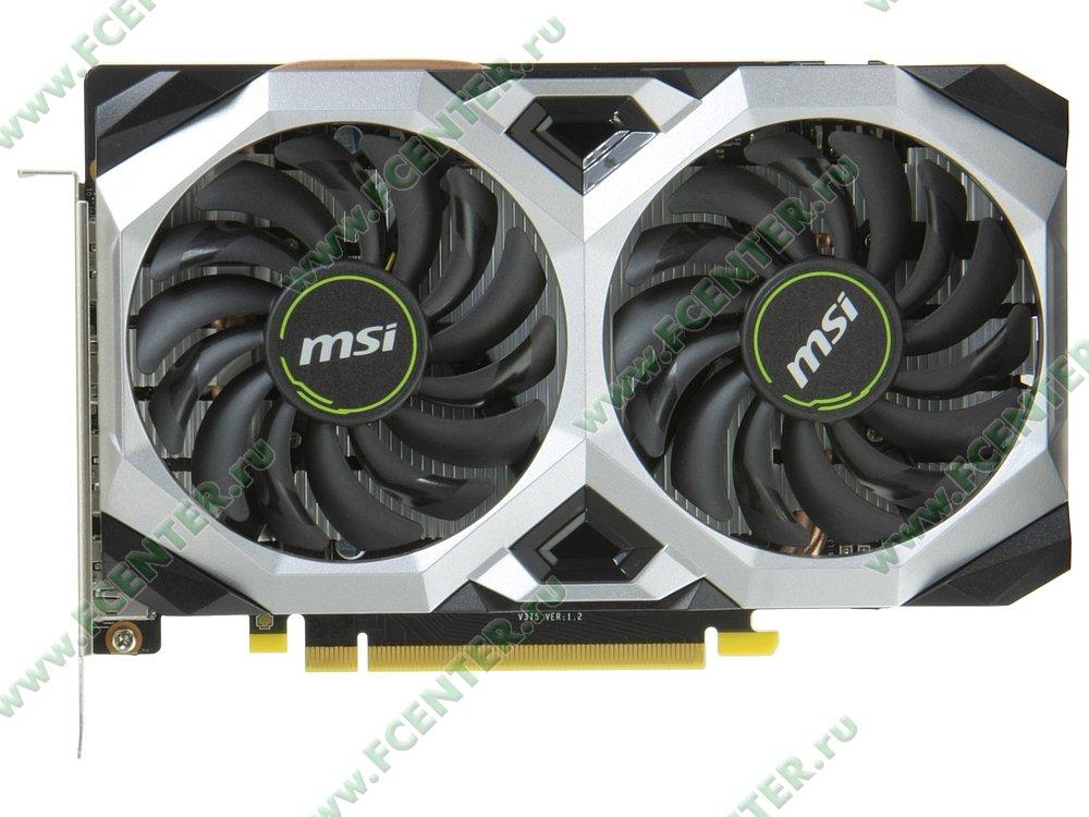 "Видеокарта MSI ""GeForce RTX 2060 VENTUS XS 6G 6ГБ"". Вид сверху."