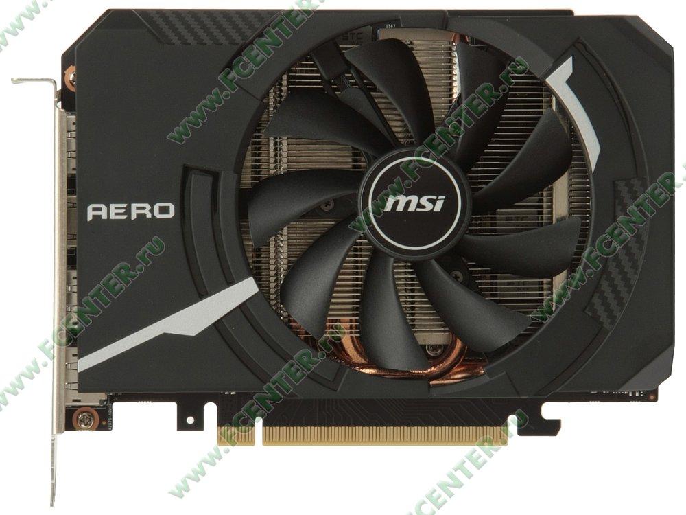 "Видеокарта MSI ""GeForce RTX 2070 AERO ITX 8G 8ГБ"". Вид сверху."