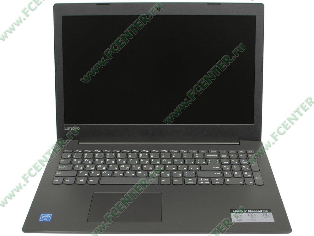 """Ноутбук Lenovo """"IdeaPad 330-15IGM"""". Вид cпереди 1."""