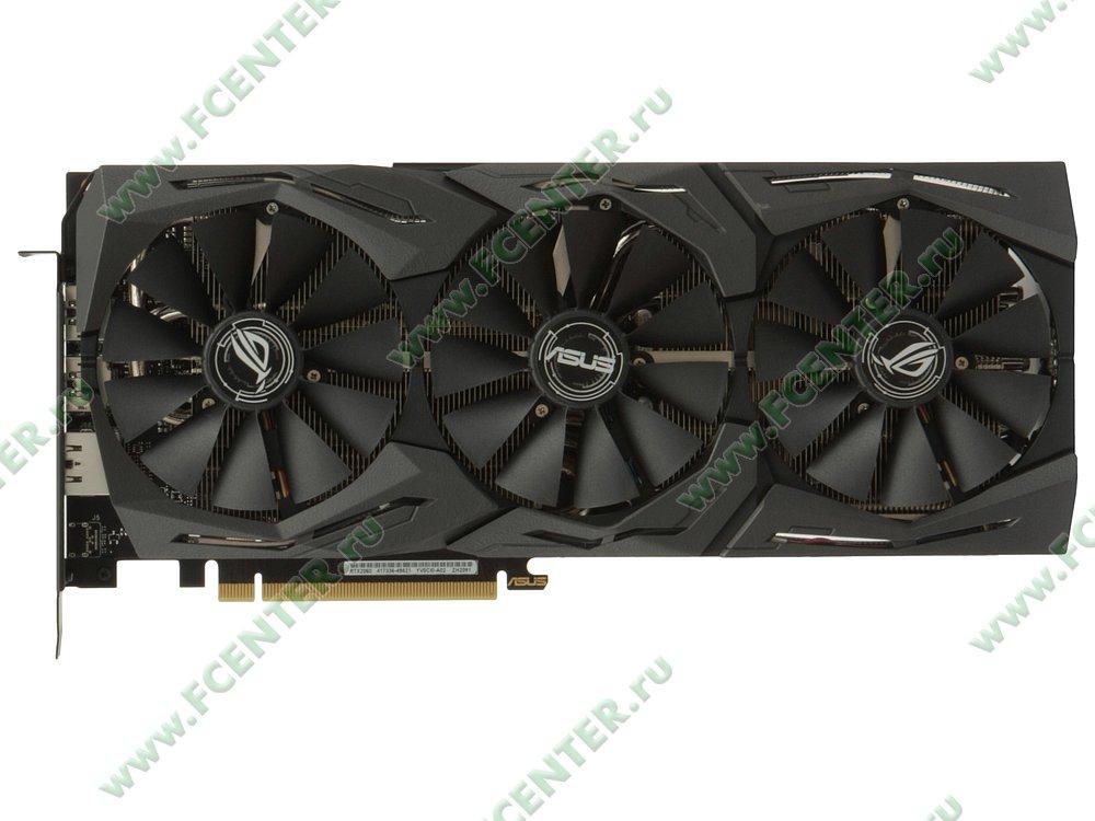 """Видеокарта ASUS """"GeForce RTX 2060 6ГБ"""" ROG-STRIX-RTX2060-6G-GAMING. Вид сверху."""