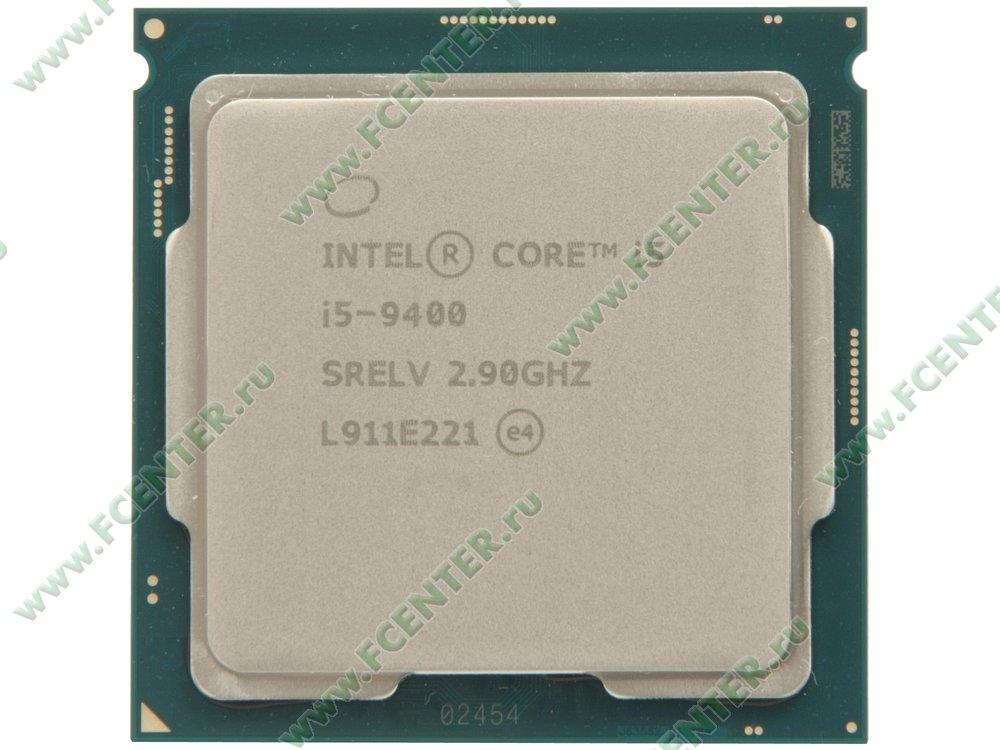"""Процессор Intel """"Core i5-9400"""" Socket1151. Вид сверху."""
