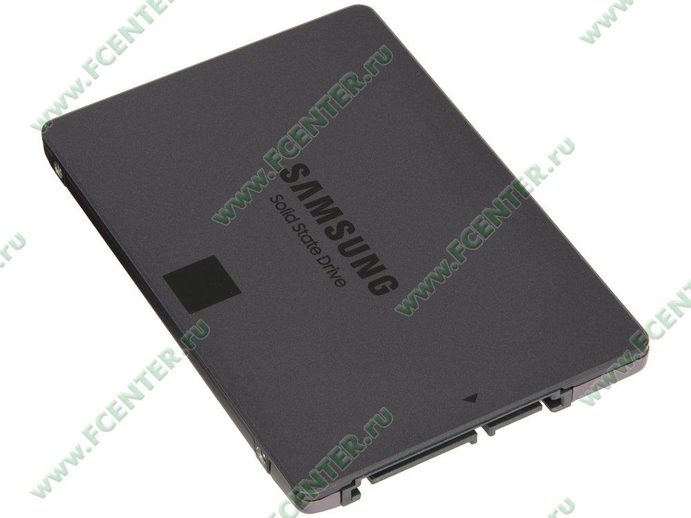 "SSD-диск SSD диск 2000ГБ 2.5"" Samsung ""860 QVO"" MZ-76Q2T0BW . Вид спереди."